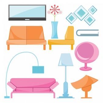 Möbeldekoration eingestellt