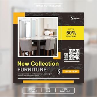 Möbeldesign instagram post square banner vorlage