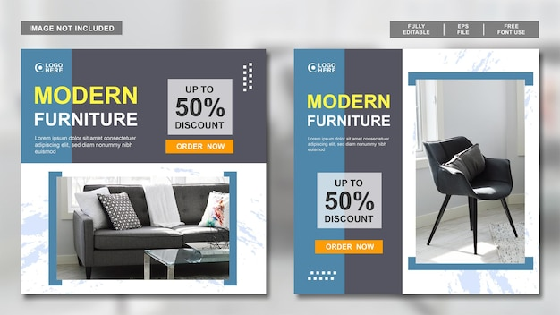 Möbeldesign social-media-post-sammlungsvorlage