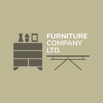 Möbelfirmenlogo, geschäftsvorlage für branding-design xx, inneneinrichtung Kostenlosen Vektoren