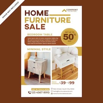 Möbelplakatwerbung im flachen designstil design