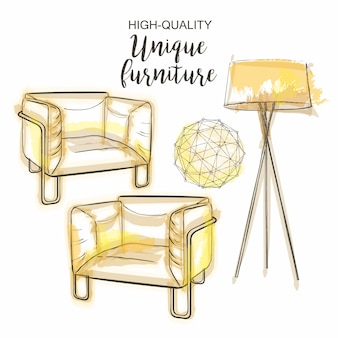 Möbelsatz skizze