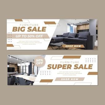 Möbelverkauf banner sammlung mit bild