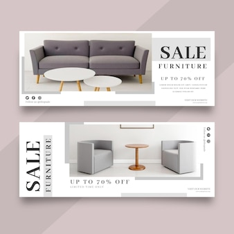 Möbelverkauf banner vorlage