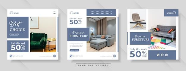 Möbelverkauf für social-media-banner oder instagram-post
