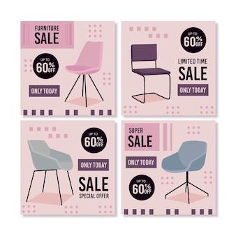 Möbelverkauf instagram post pack