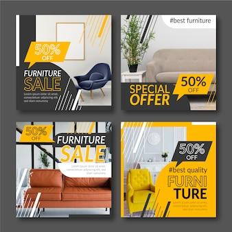 Möbelverkauf instagram post sammlung
