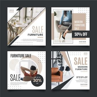 Möbelverkauf instagram post