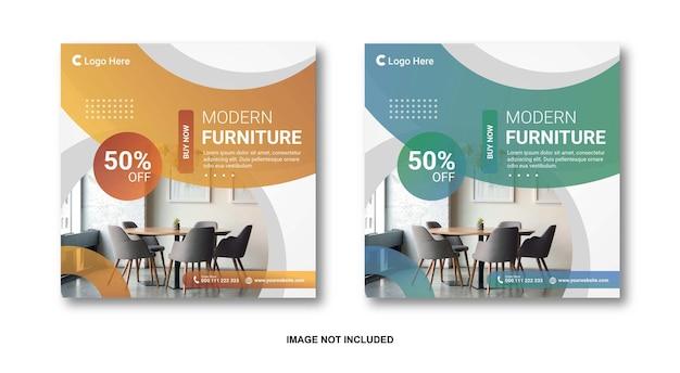 Möbelverkauf instagram social media post premium-vorlage