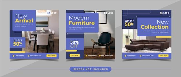 Möbelverkauf social media banner für social media post und digitales marketing