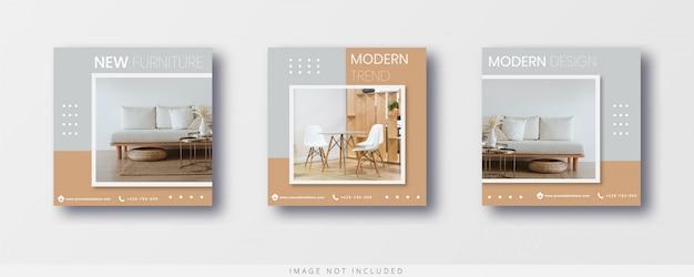 Möbelverkaufsvorlage für social media instagram post und banner