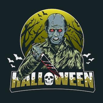 Mörder bei halloween-party