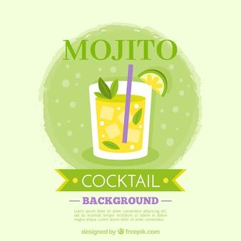 Mojito hintergrund mit eis