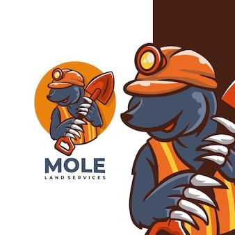 Mole land service logo-design