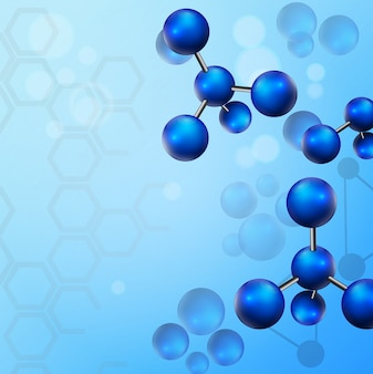 Molekül illustrationshintergrund