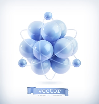 Molekül, vektorillustration