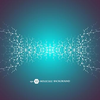 Molekülkonzept von neuronen und nervensystem. wissenschaftliche medizinische forschung.