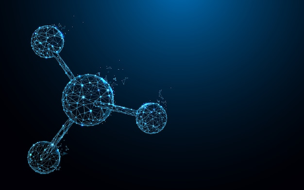 Molekularstruktur bilden linien und partikelstildesign