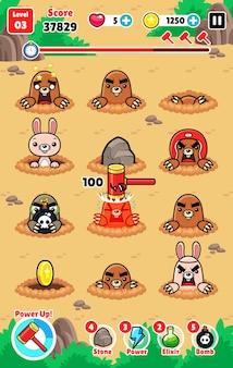 Moles attack spiel vermögenswerte