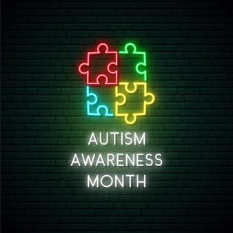 Monat des bewusstseins für autismus.