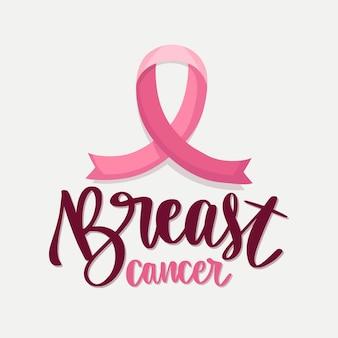 Monat des bewusstseins für brustkrebs - beschriftung