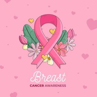Monat des bewusstseins für brustkrebs mit band