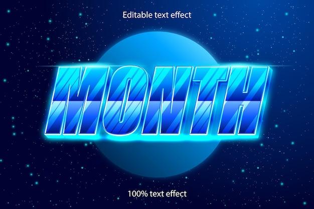 Monat editierbarer texteffekt retro mit modernem stil