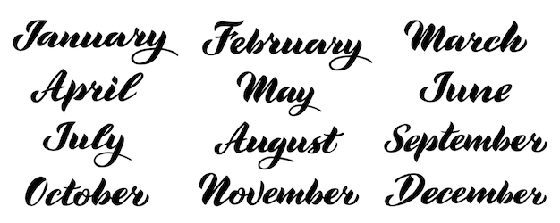 Monatsnamen dezember januar februar märz april mai juni juli august september oktober