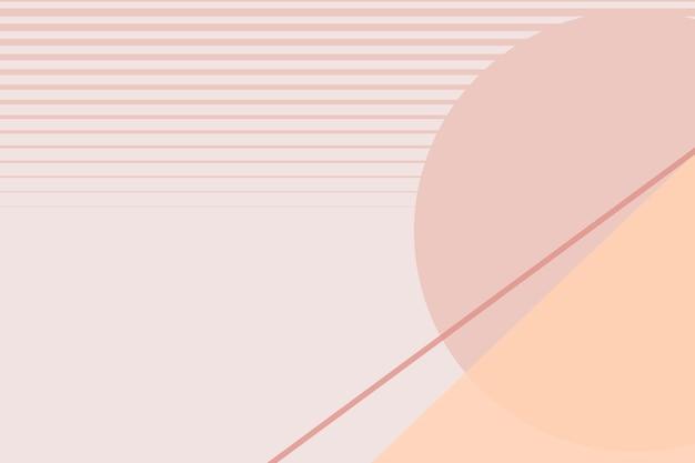Mond geometrischer landschaftshintergrundvektor in pastellrosa und orange