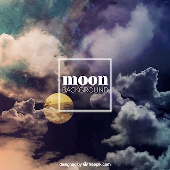 Mond hintergrund mit wolken