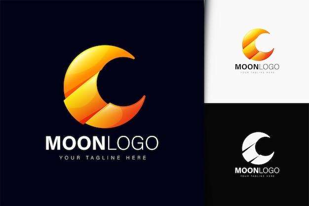 Mond-logo-design mit farbverlauf