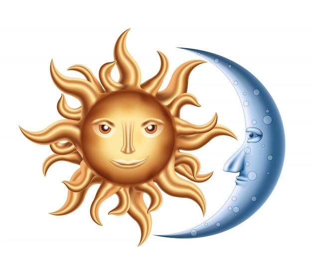 Mond und sonne