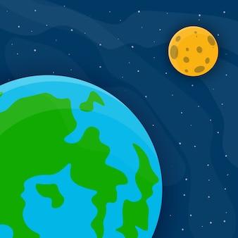 Mond und sterne illustartion