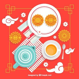 Mondkuchen des traditionellen mittleren herbstfestivals