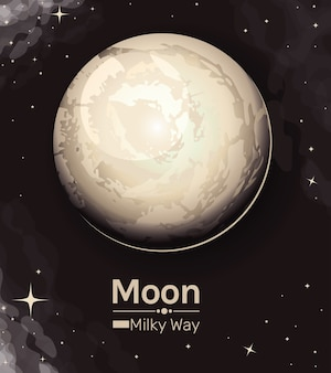 Mondmilchstraße stilikone der nacht schlafenszeit himmel raum mondlicht natur licht mond und wissenschaftsthema