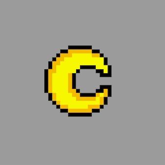 Mondsichel mit pixel-art-stil