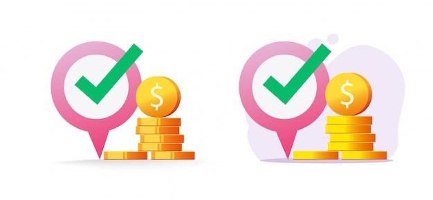 Money atm pin zeiger marker als geldwechsel und karte bank position standort zielort