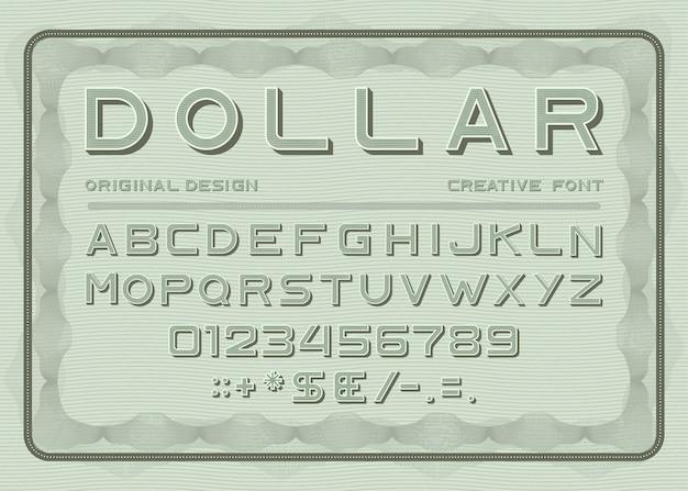 Money-schriftschnitt