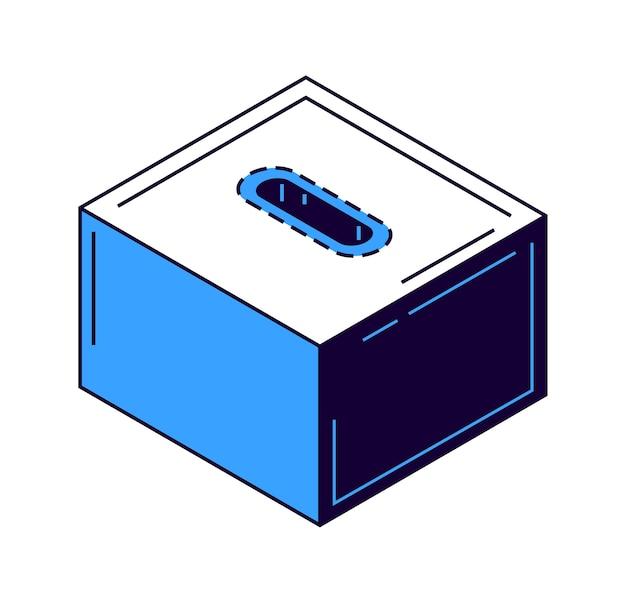 Moneybox icon banknoten und goldmünze isometrisch