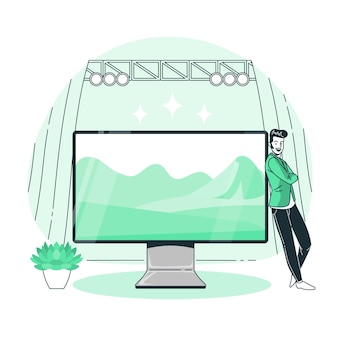Monitor konzept illustration