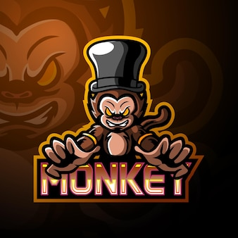 Monkey esport logo maskottchen design