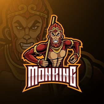 Monkey king maskottchen-logo