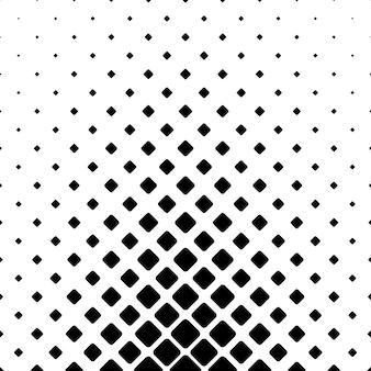 Monochromatische abstrakte quadratische muster hintergrund - geometrische vektor-grafik-design aus diagonal gerundeten quadrate