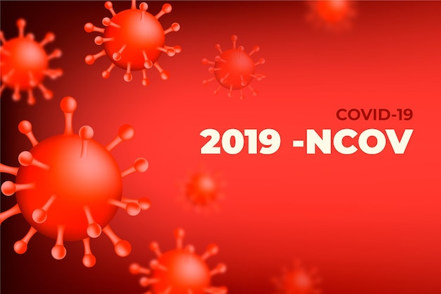Monochromatischer coronavirus-hintergrund