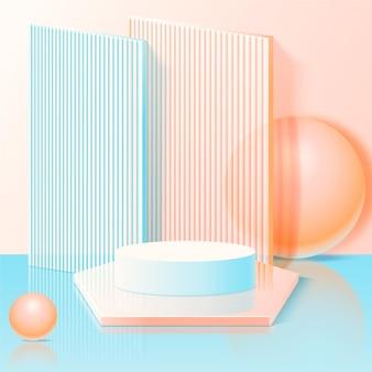 Monochromatisches abstraktes 3d podium