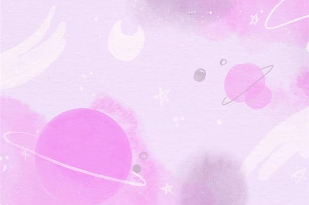 Monochrome aquarellplaneten tapete