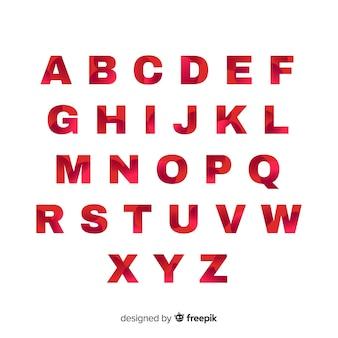 Monochrome farbverlauf alphabet vorlage