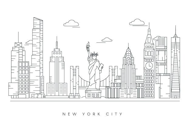 Monochrome gliederung sehenswürdigkeiten skyline