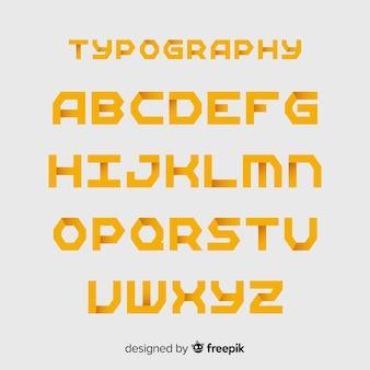 Monochrome gradiententypographie