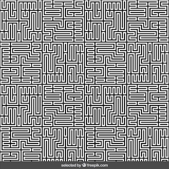 Monochrome labyrinth abstrakten hintergrund